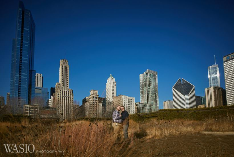 Chicago same sex engagement – Jeffrey + Brandon