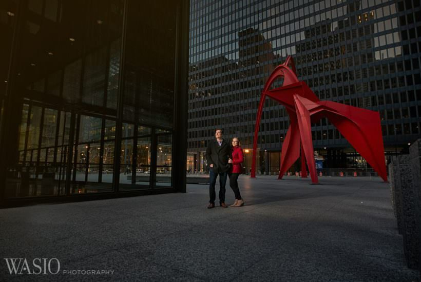 Chicago winter engagement session – Lucy + John